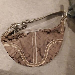 Coach shoulder bad and matching wristlet